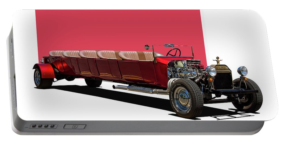 Ford Portable Battery Charger featuring the photograph Model A Ford Limousine by Nick Gray