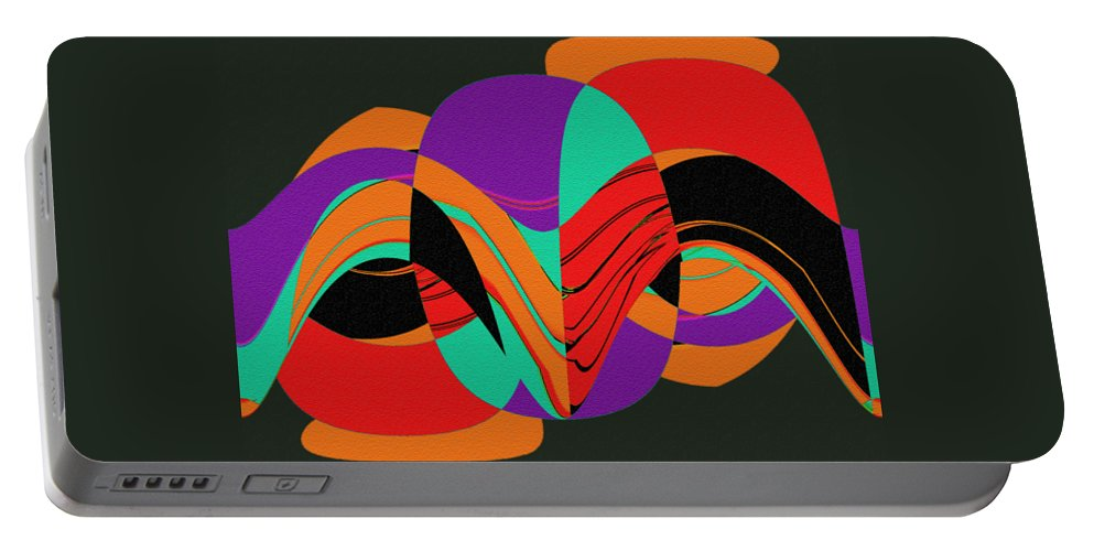 Modern Art 2 Portable Battery Charger featuring the painting Modern Art 2 by Methune Hively