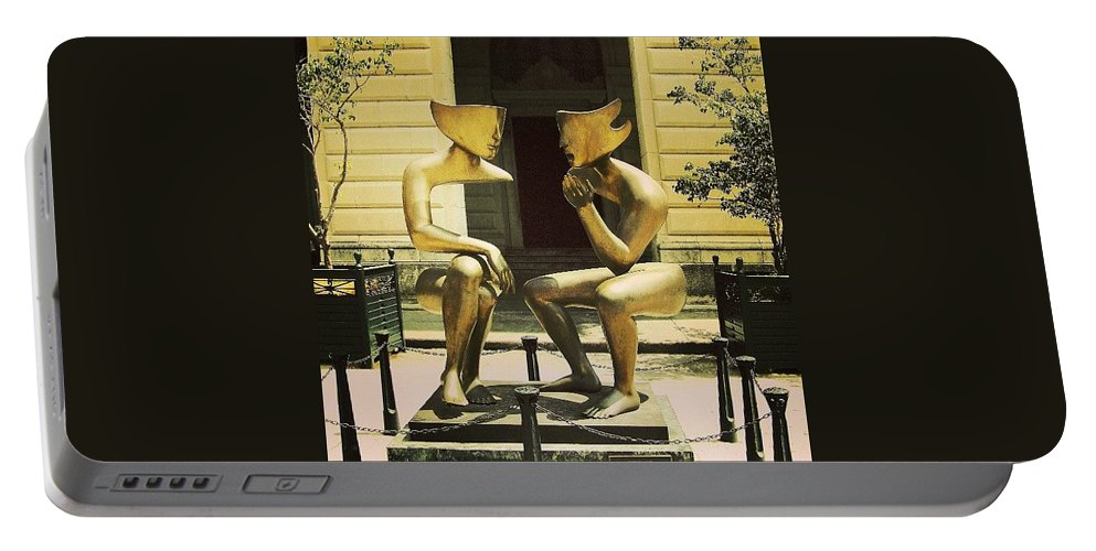 Havana Portable Battery Charger featuring the photograph Modern Art In Old Havana by Serge Averbukh