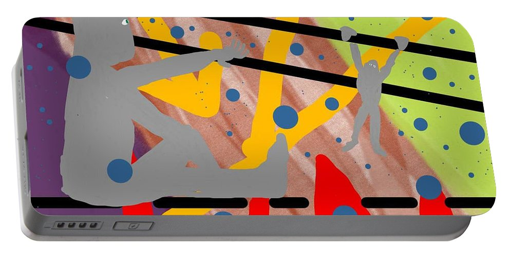 Colors People Portable Battery Charger featuring the digital art Modern Art Viii by David R Keith