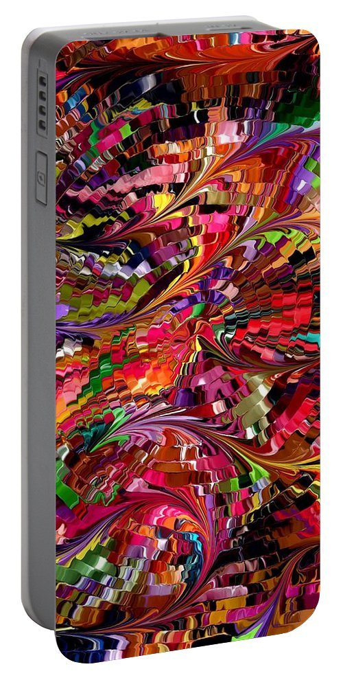Contemporary Portable Battery Charger featuring the painting Modern Composition 34 by Rafi Talby
