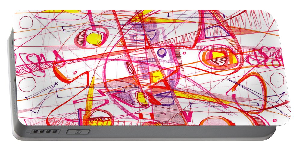 Modern Drawing Portable Battery Charger featuring the drawing Modern Drawing Eighty-three by Lynne Taetzsch