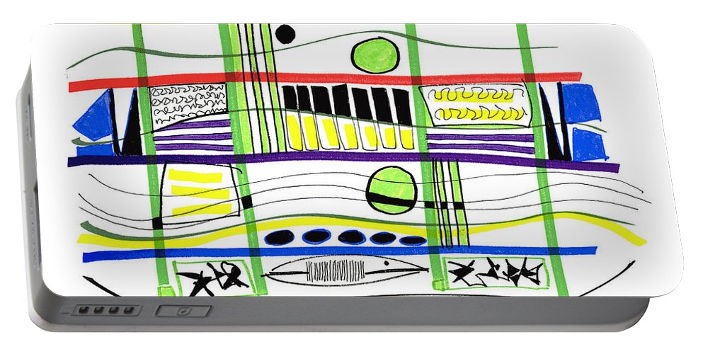 Modern Drawing Portable Battery Charger featuring the drawing Modern Drawing Fifteen by Lynne Taetzsch