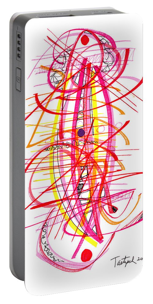 Modern Art Drawing Portable Battery Charger featuring the drawing Modern Drawing Forty-five by Lynne Taetzsch