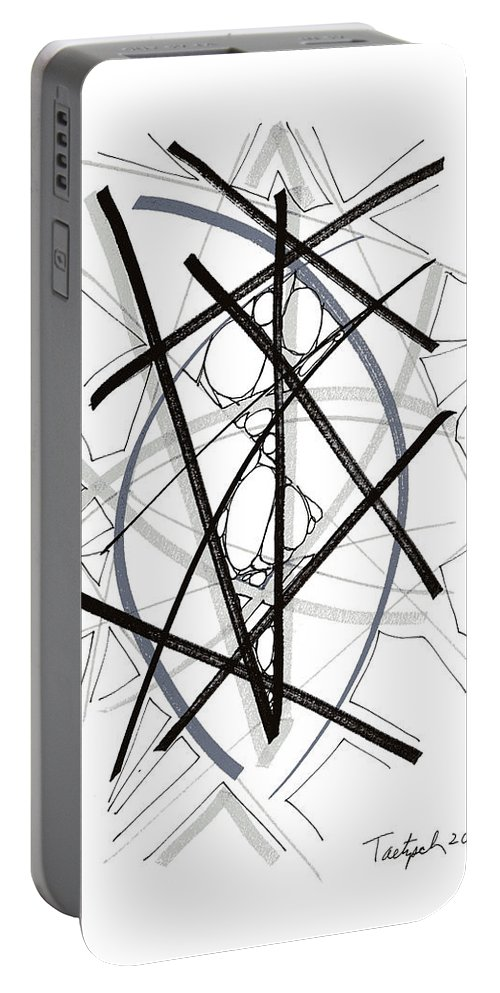 Modern Art Drawing Portable Battery Charger featuring the drawing Modern Drawing Forty-six by Lynne Taetzsch