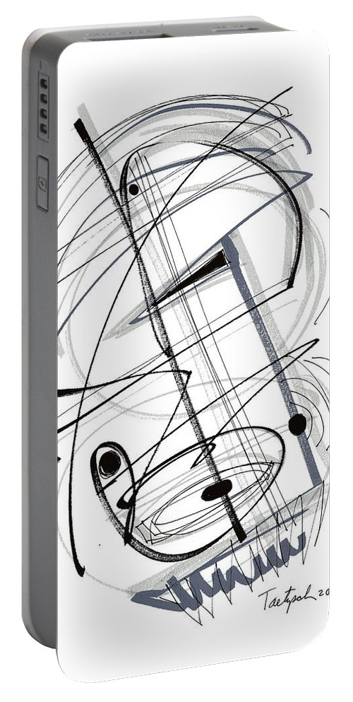 Modern Drawing Portable Battery Charger featuring the drawing Modern Drawing Thirty-eight by Lynne Taetzsch