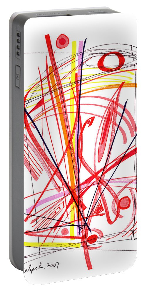 Modern Drawing Portable Battery Charger featuring the drawing Modern Drawing Thirty-nine by Lynne Taetzsch