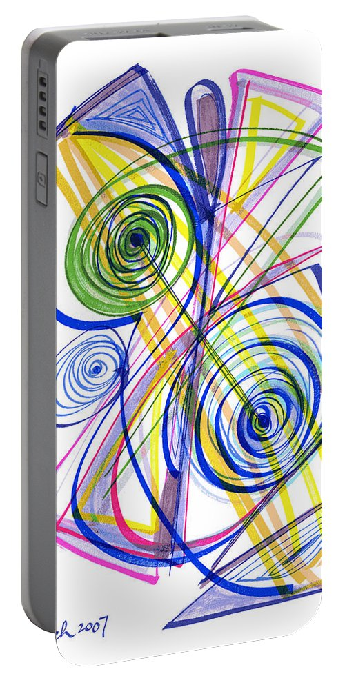 Modern Drawing Portable Battery Charger featuring the drawing Modern Drawing Thirty-seven by Lynne Taetzsch