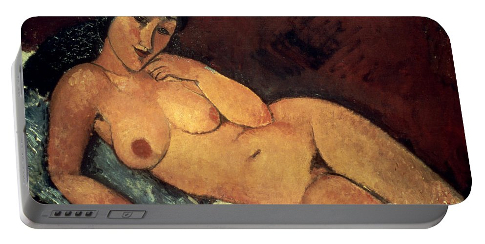 1917 Portable Battery Charger featuring the photograph Modigliani: Nude, 1917 by Granger