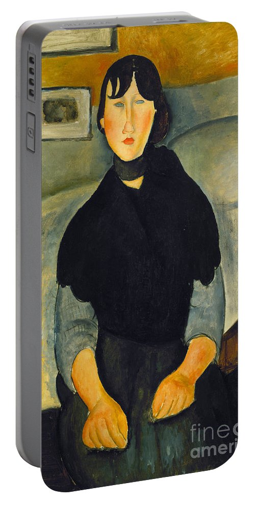 1918 Portable Battery Charger featuring the photograph Modigliani: Woman, 1918 by Granger