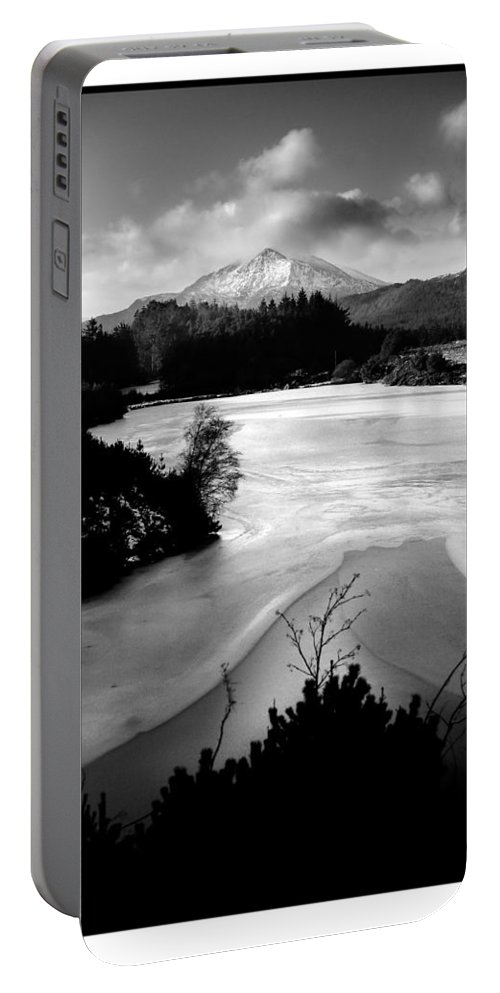 Mountain Portable Battery Charger featuring the photograph Moel Siabod Viewed From Llyn Glangors Lake Snowdonia by Mal Bray