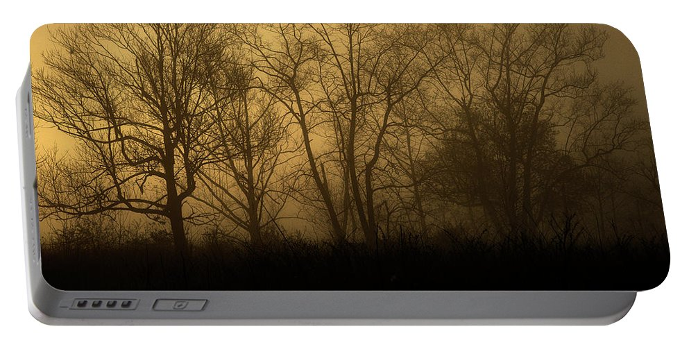 Nature Portable Battery Charger featuring the photograph Morning Fog, #2, Smoky Mountains, Tennessee by Stanton Tubb
