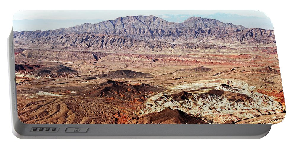 Desert Portable Battery Charger featuring the photograph Mojave Desert Magic by Debbie Oppermann