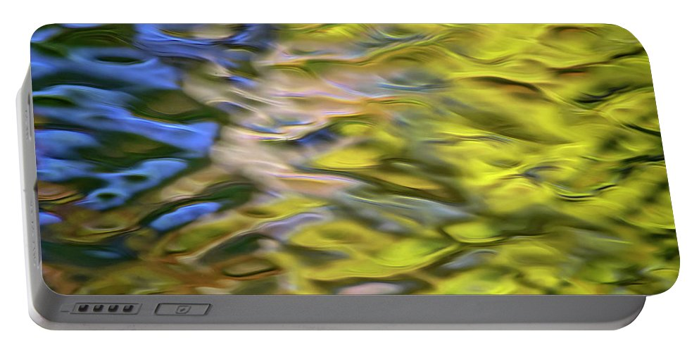 Mojave Portable Battery Charger featuring the photograph Mojave Gold Mosaic Abstract Art by Christina Rollo