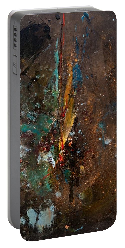 Abstraction Portable Battery Charger featuring the painting Mold 2 by Alina Ogorodnikova