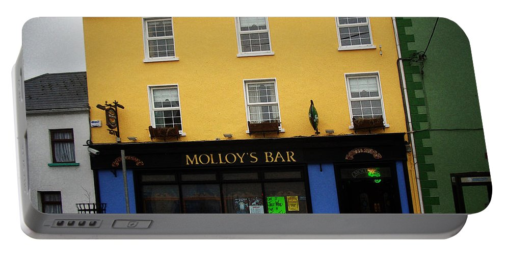 Pub Portable Battery Charger featuring the photograph Molloy by Tim Nyberg