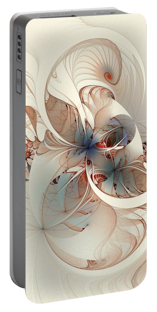 Portable Battery Charger featuring the digital art Mollusca by Amanda Moore