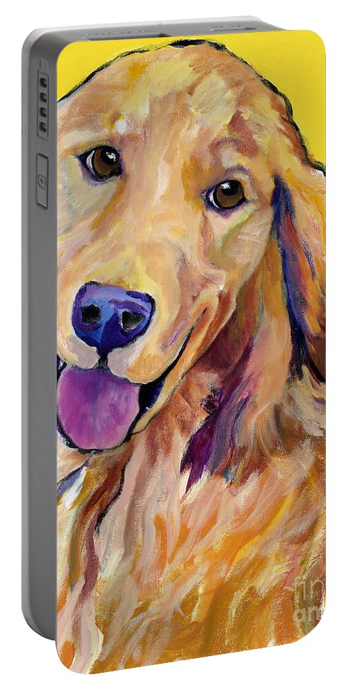 Acrylic Paintings Portable Battery Charger featuring the painting Molly by Pat Saunders-White