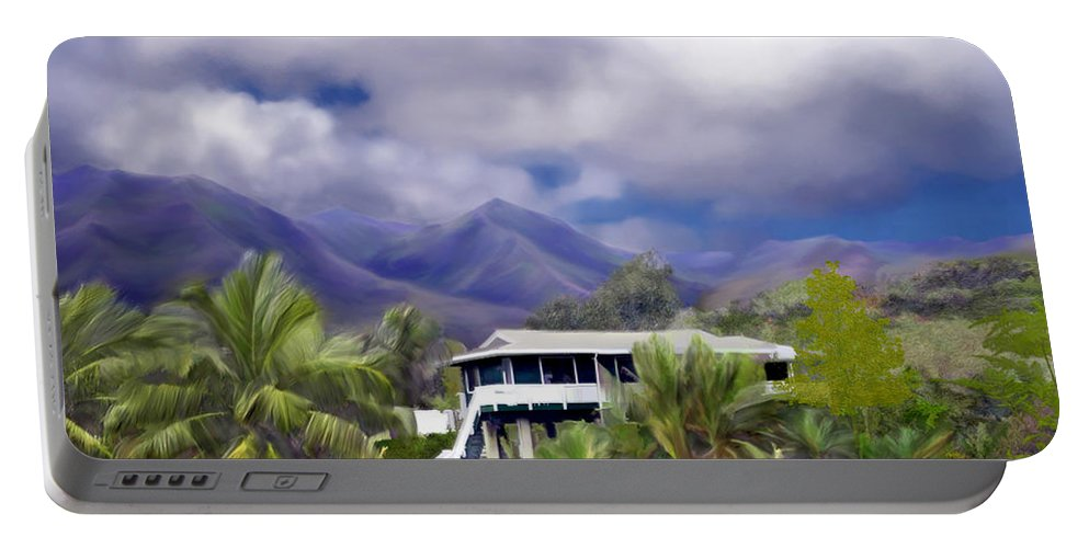 Hawaii Portable Battery Charger featuring the photograph Moloa A Bay Hideaway by Kurt Van Wagner