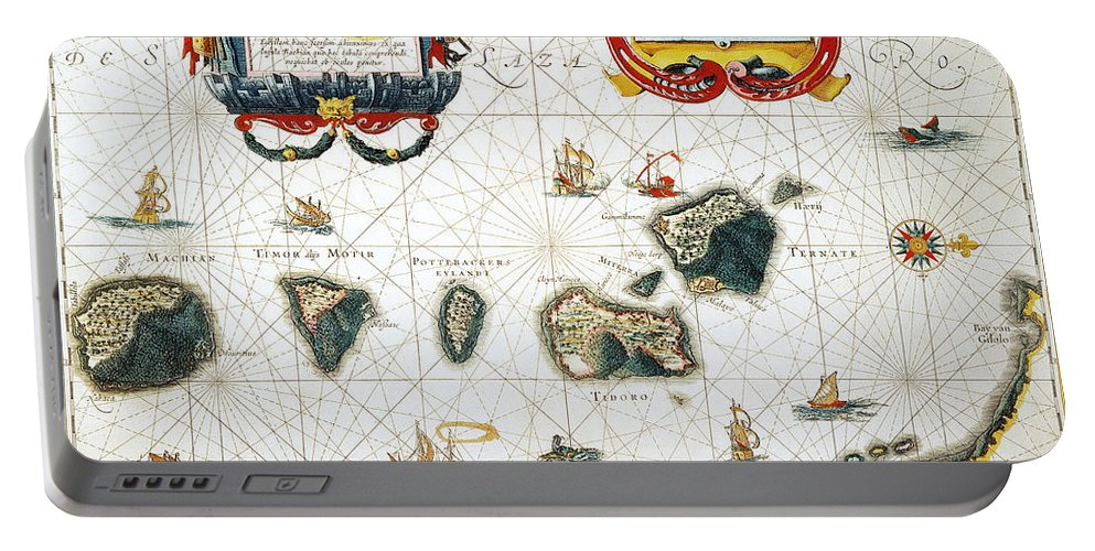 1662 Portable Battery Charger featuring the photograph Moluccas: Spice Islands by Granger