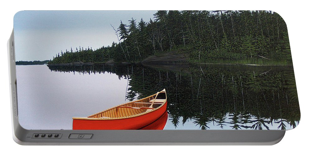 Landscapes Portable Battery Charger featuring the painting Moments Of Peace by Kenneth M Kirsch