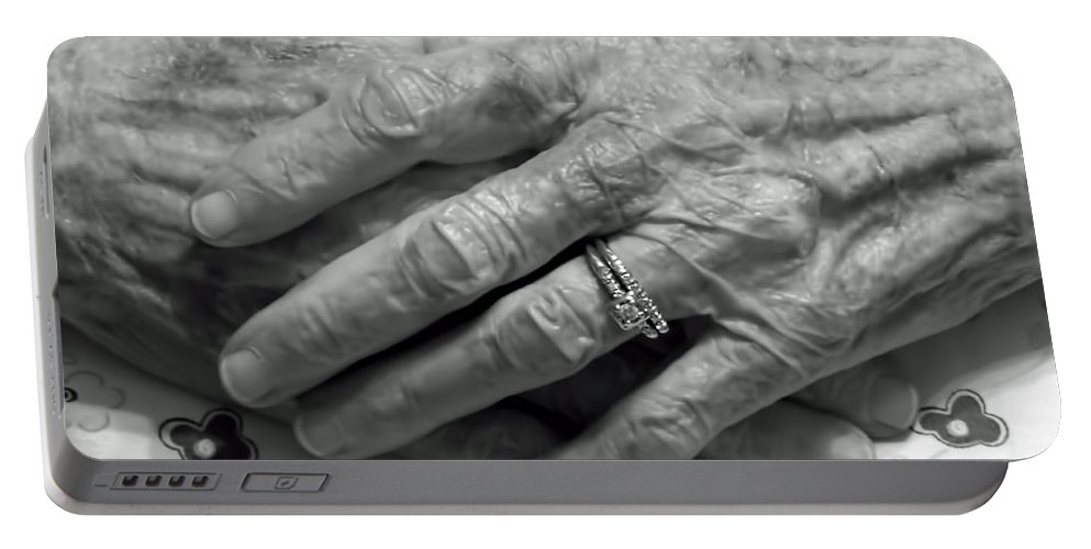 Parent Portable Battery Charger featuring the photograph Mommas Hands by D Hackett