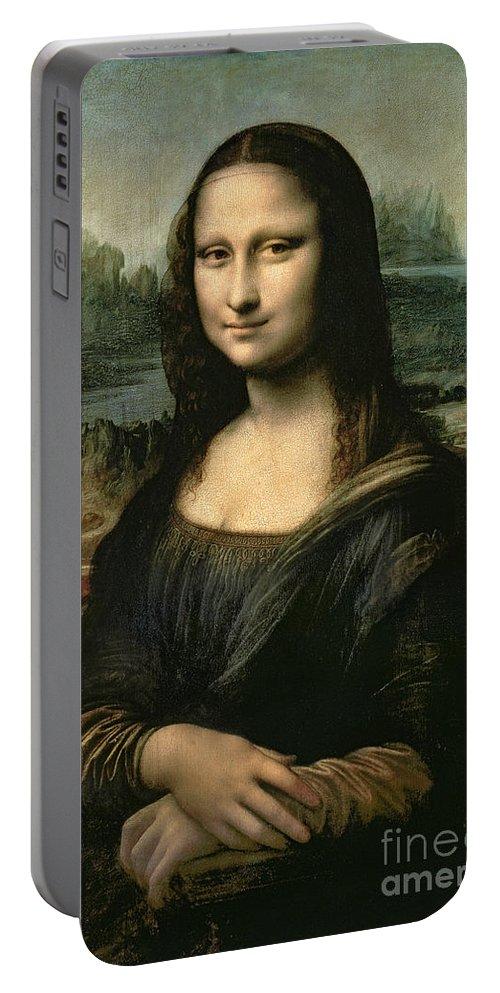 Mona Portable Battery Charger featuring the painting Mona Lisa by Leonardo da Vinci