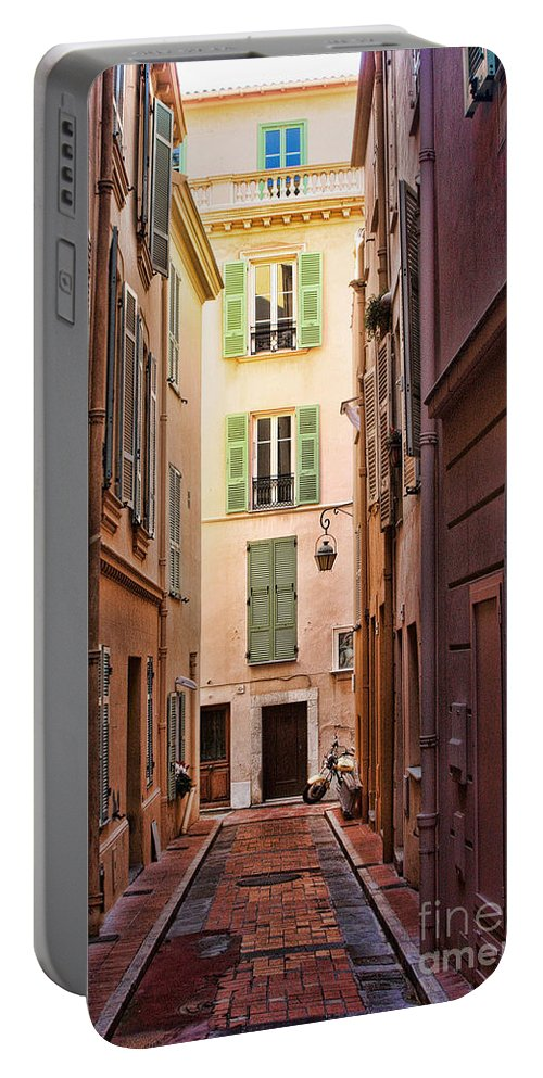 Europe Portable Battery Charger featuring the photograph Monaco Street by Tom Prendergast