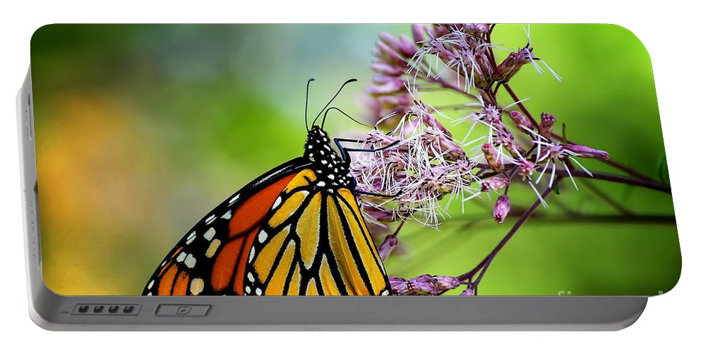 Monarch Portable Battery Charger featuring the photograph Monarch by Lois Bryan