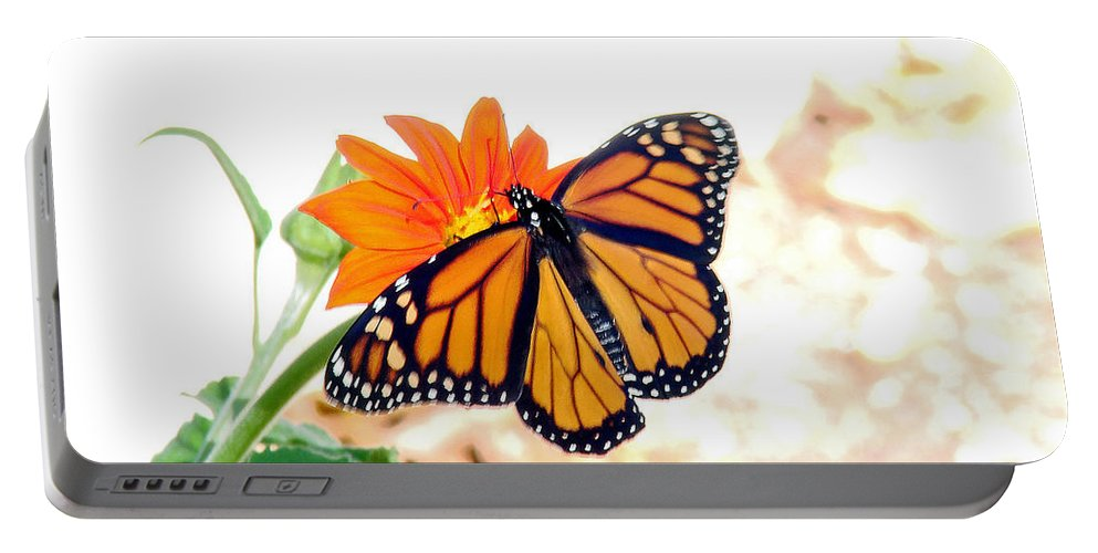 Butterflies Portable Battery Charger featuring the photograph Monarch by Mary Halpin