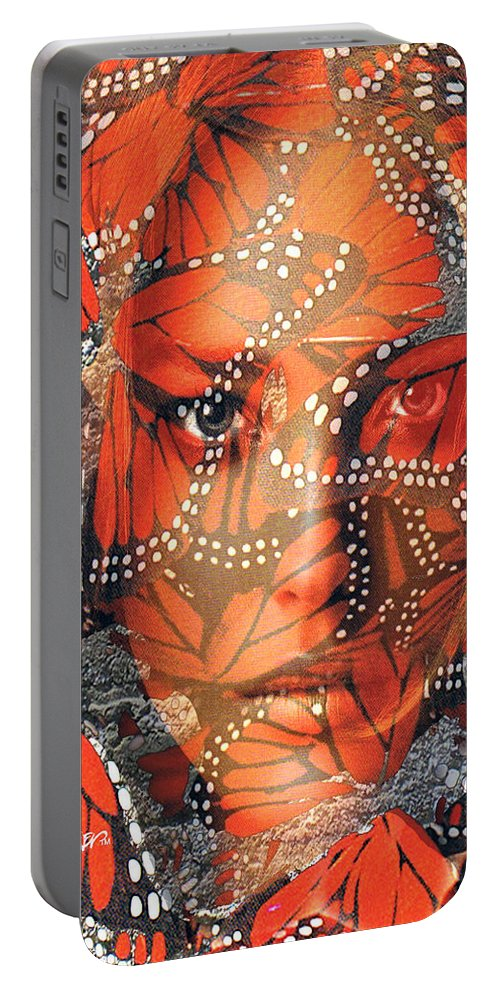 Butterfly Portable Battery Charger featuring the digital art Monarch Moment by Seth Weaver
