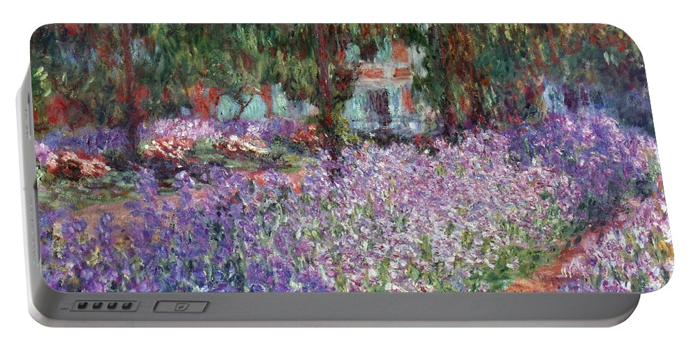 1900 Portable Battery Charger featuring the photograph Monet: Giverny, 1900 by Granger