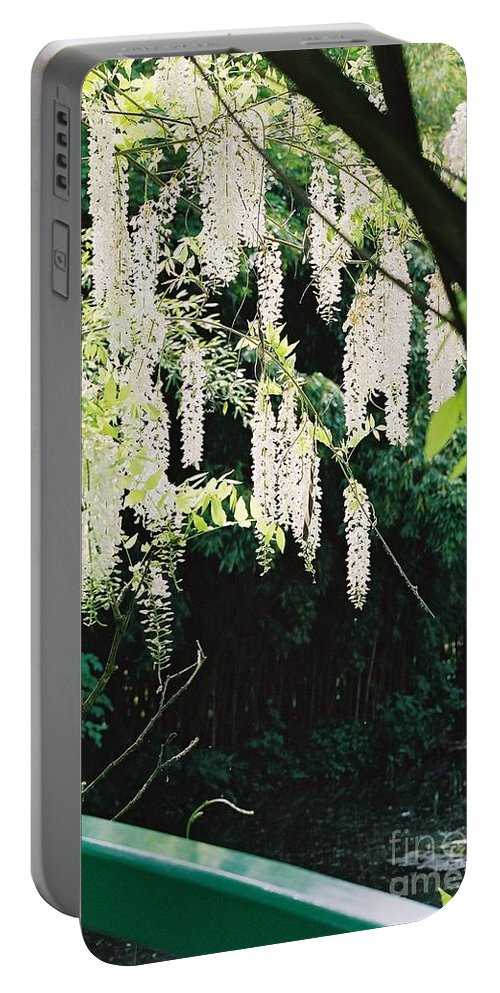 Monet Portable Battery Charger featuring the photograph Monet's Garden Delights by Nadine Rippelmeyer