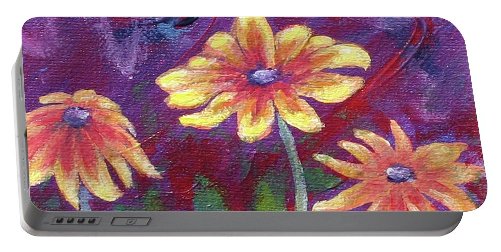 Small Acrylic Painting Portable Battery Charger featuring the painting Monet's Small Composition by Jennifer McDuffie