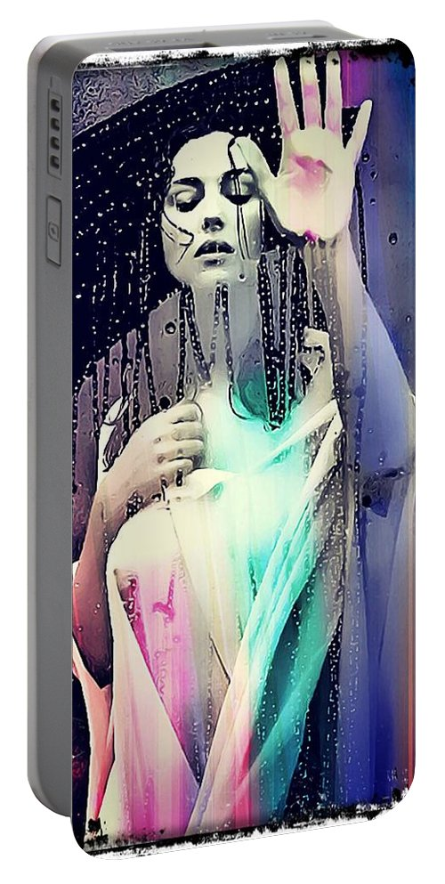 Model Portable Battery Charger featuring the digital art Monica by Dominick Conde
