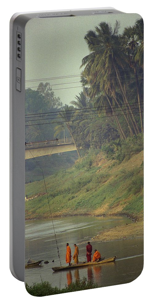 Monks Portable Battery Charger featuring the photograph Monks - Battambang by Patrick Klauss