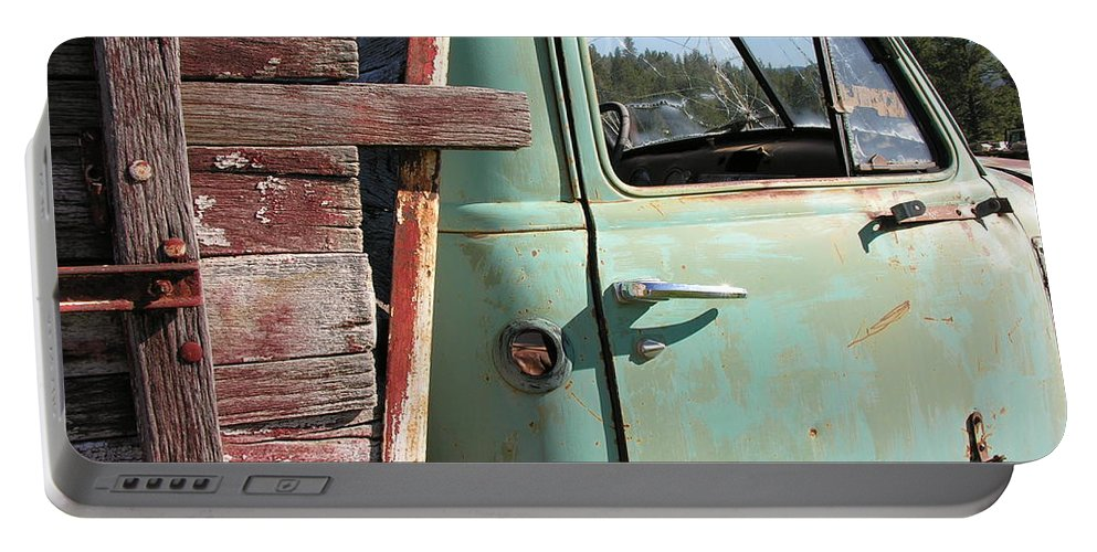 Truck Portable Battery Charger featuring the photograph Montana Truck by Diane Greco-Lesser