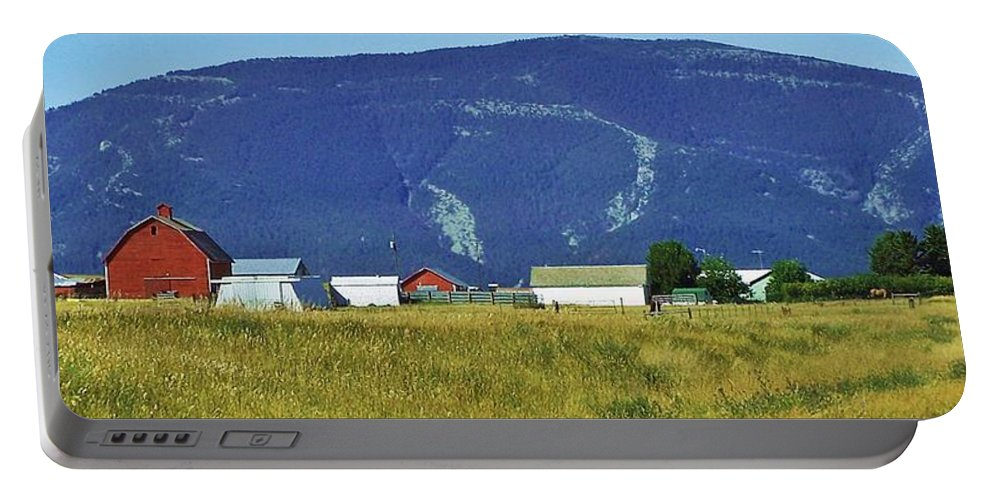Landscape Portable Battery Charger featuring the photograph Montana Whispers by Christian Mattison