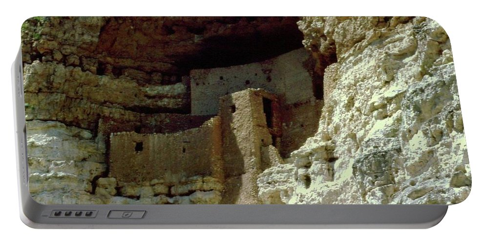 Arizona Portable Battery Charger featuring the photograph Montezumas Castle by Gary Wonning
