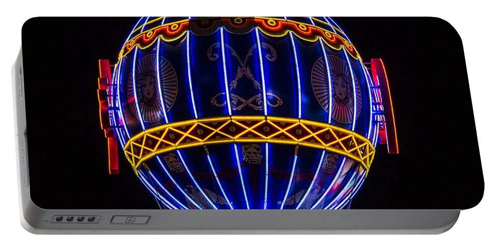 Las Vegas Portable Battery Charger featuring the photograph Montgolfier by Angus Hooper Iii
