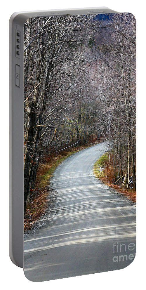 Road Portable Battery Charger featuring the photograph Montgomery Mountain Road by Deborah Benoit