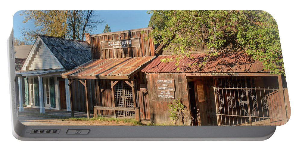 Idaho City Portable Battery Charger featuring the photograph Montgomery Street II by Kristina Rinell