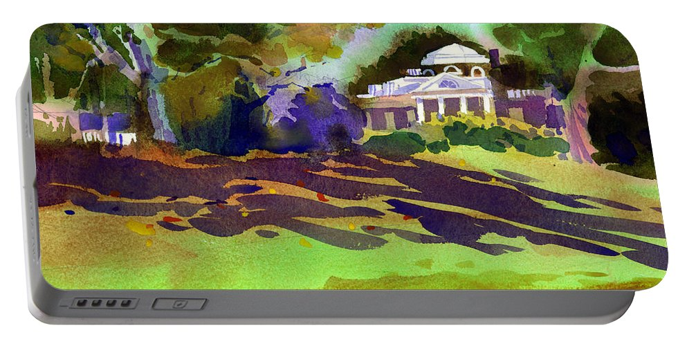 Thomas Jefferson Portable Battery Charger featuring the painting Monticello In October by Lee Klingenberg