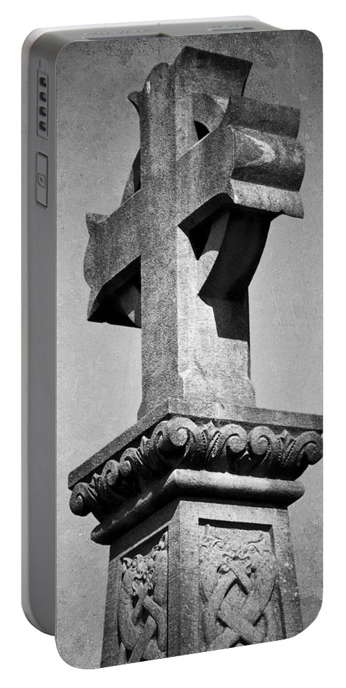 Irish Portable Battery Charger featuring the photograph Monument Cross Macroom Ireland by Teresa Mucha