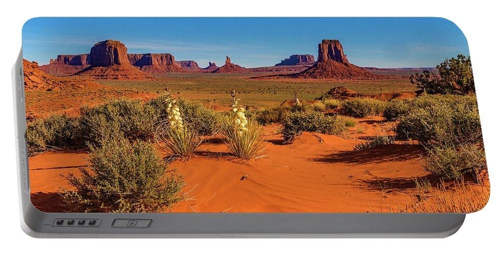 Monument Valley Portable Battery Charger featuring the photograph Monument Valley by Norman Hall