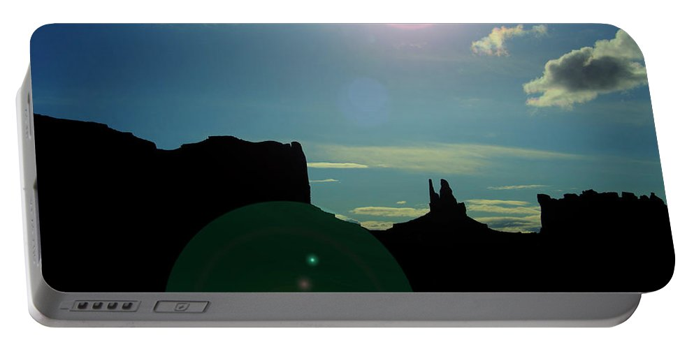 Monument Valley Portable Battery Charger featuring the photograph Monument Valley silhouette by Roy Nierdieck