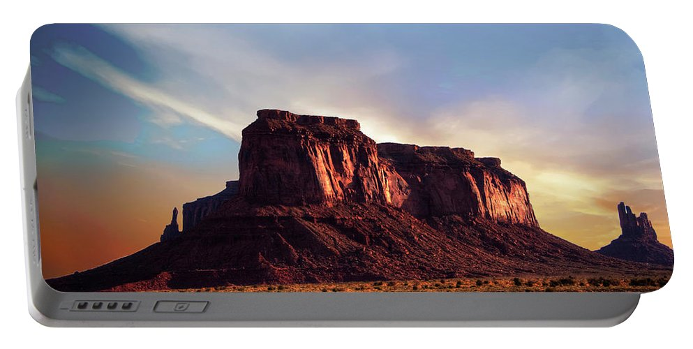 Monument Valley Portable Battery Charger featuring the photograph Monument Valley sunset by Roy Nierdieck
