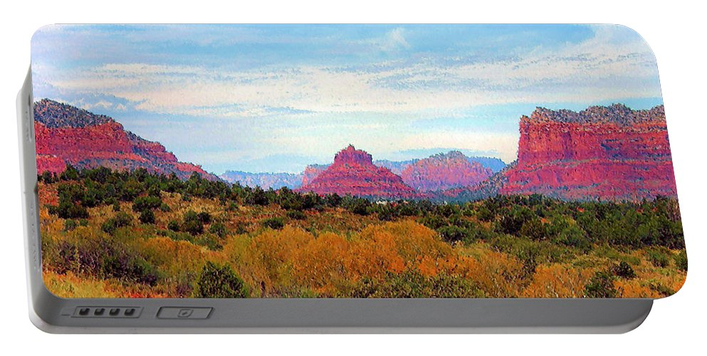 Monument Portable Battery Charger featuring the photograph Monumental Bell Rock Vista by Kristin Elmquist