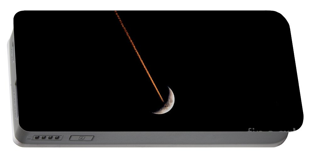 Moon Portable Battery Charger featuring the photograph Moon Flight by David Lee Thompson