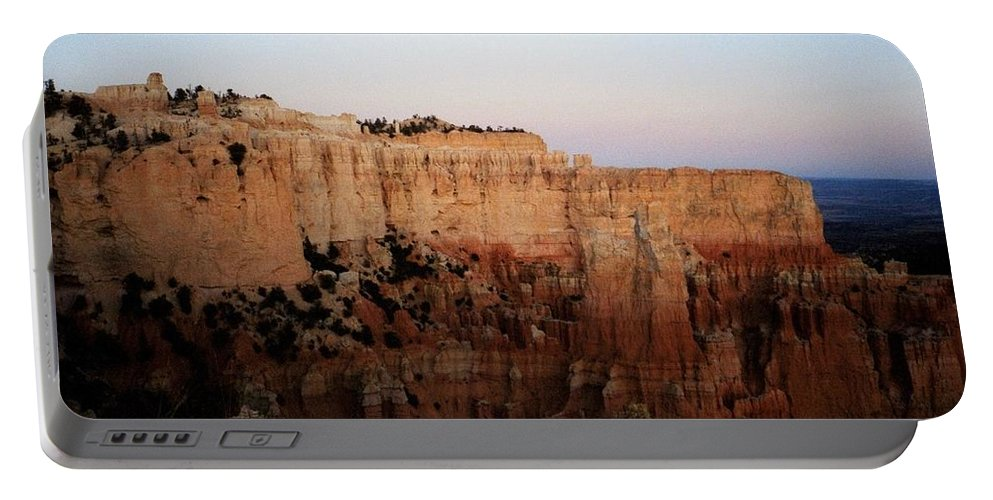 Bryce Canyon Portable Battery Charger featuring the photograph Moon Over Bryce II by Deborah Crew-Johnson